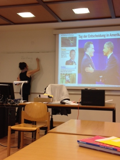 Learning about the presidential election in Deutsch