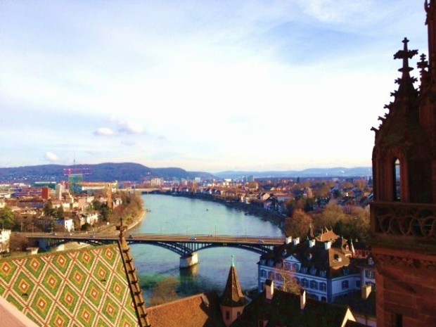 View atop the Grossmünster