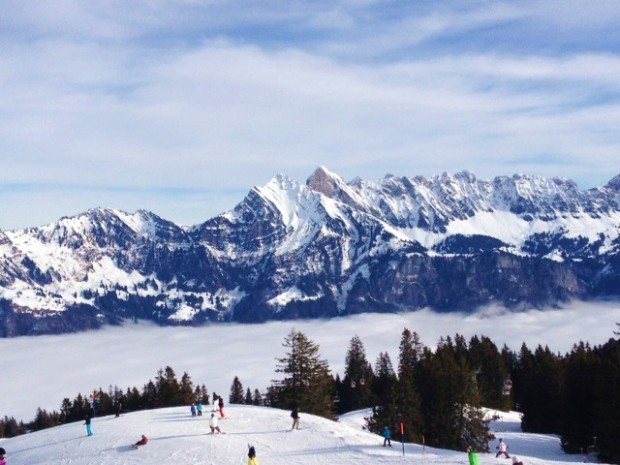 Flumserberg, Swiss Alps - skiing above the clouds