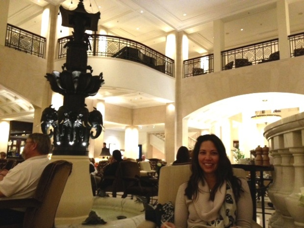 Lisa and I at the Hotel Adlon