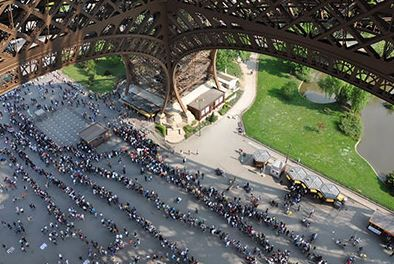 Avoiding Long Lines at the Eiffel Tower