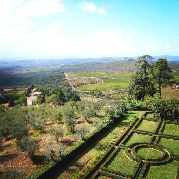 Castello di Brolo garden view