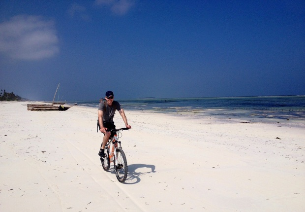 Biking on the sands