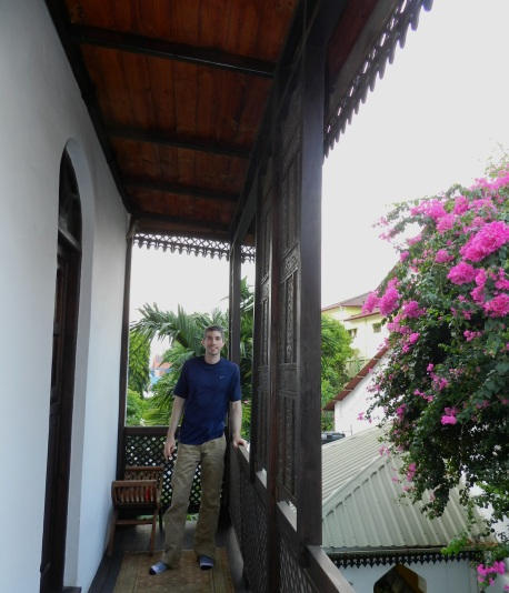 The terrace on our Stone Town hotel, the Kholle House.